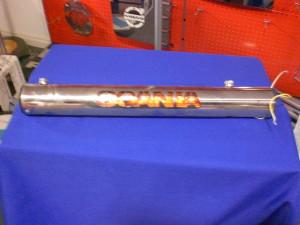 Scania step light bar