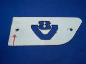 Scania V8 side badge